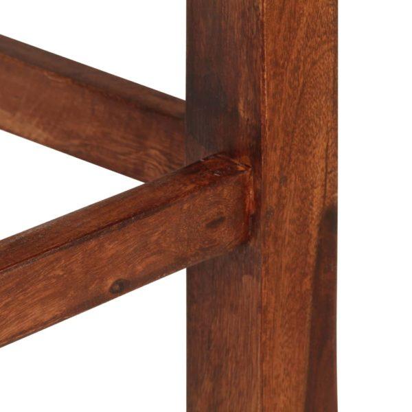 Barhocker 2 Stk. Braun Massivholz
