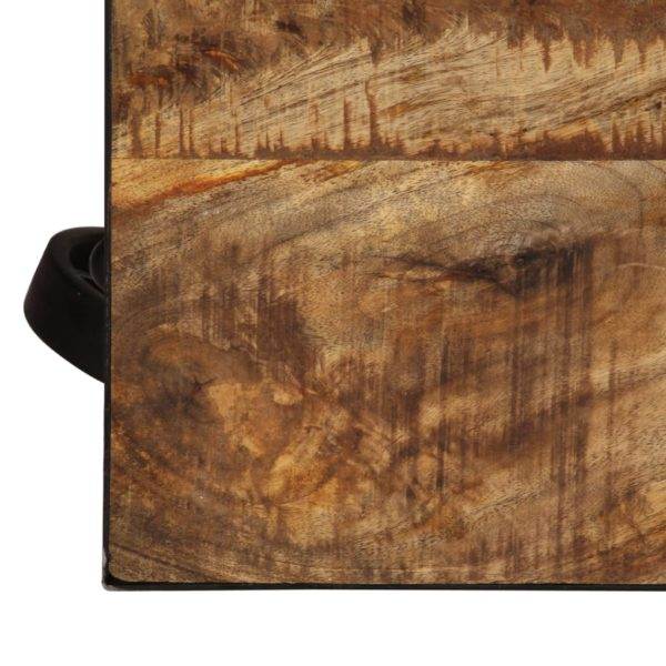 Couchtisch mit Rädern Massivholz Mango 100 x 60 x 26 cm