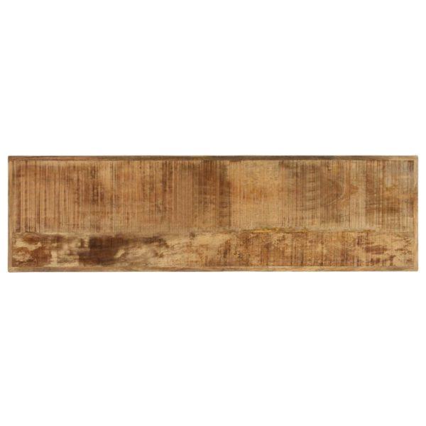 Esszimmerbank Mango-Massivholz und Gusseisen 160x45x45 cm