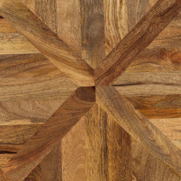 Couchtisch Mangoholz Massiv und Gusseisen 140 x 70 x 45 cm