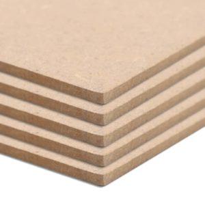 MDF-Platten 4 Stück Quadratisch 60×60 cm 12 mm