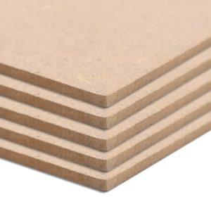 MDF-Platten 8 Stück Quadratisch 60×60 cm 12 mm