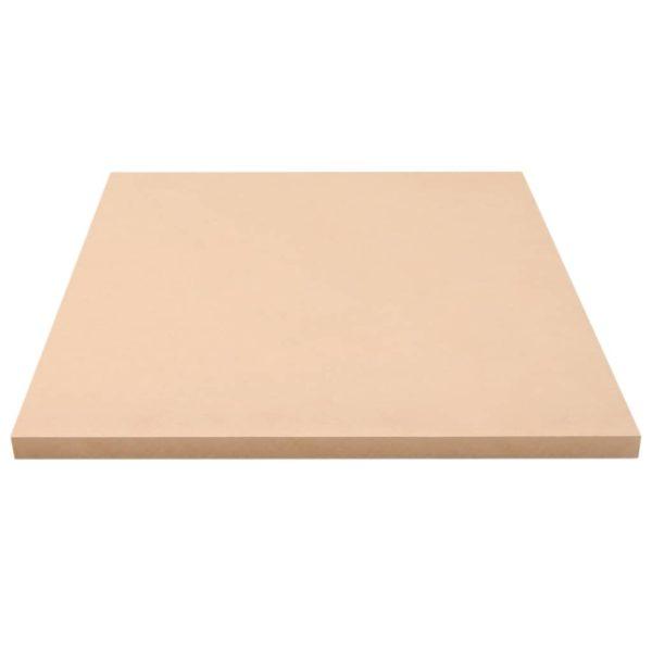 MDF-Platten 2 Stk. Quadratisch 60×60 cm 25 mm