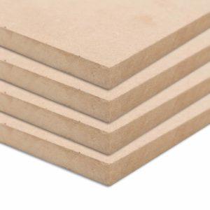 MDF-Platten 4 Stk. Quadratisch 60×60 cm 25 mm