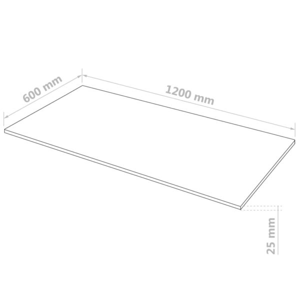MDF-Platten 2 Stk. Rechteckig 120×60 cm 25 mm
