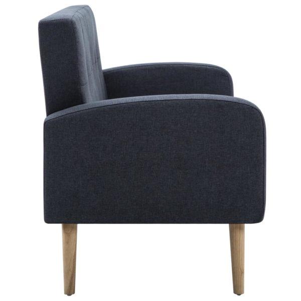 3-Sitzer-Sofa Stoff Dunkelgrau