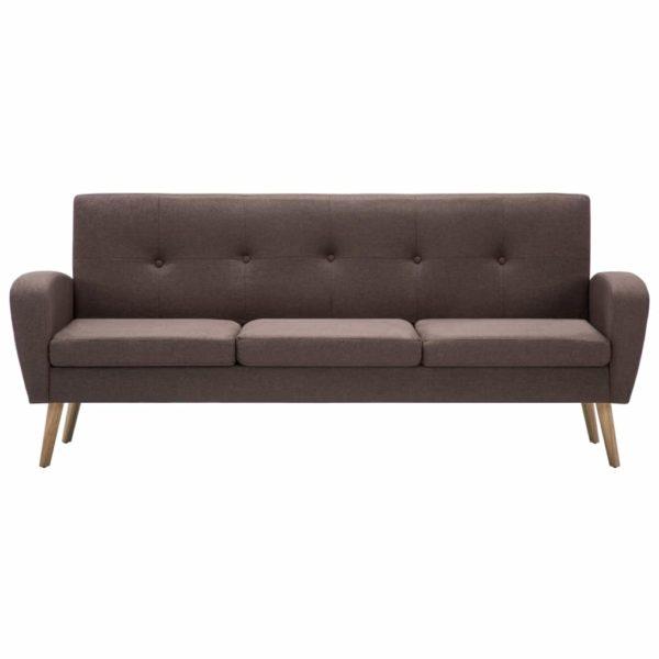 3-Sitzer-Sofa Stoff Braun