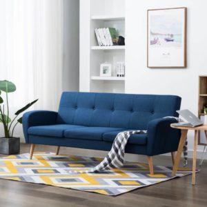 3-Sitzer-Sofa Stoff Blau