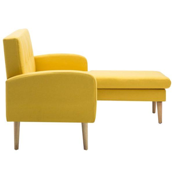 Sofa in L-Form Stoffbezug 186 x 136 x 79 cm Gelb