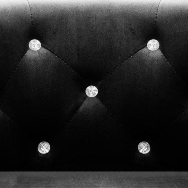 Sessel Schwarz Samt