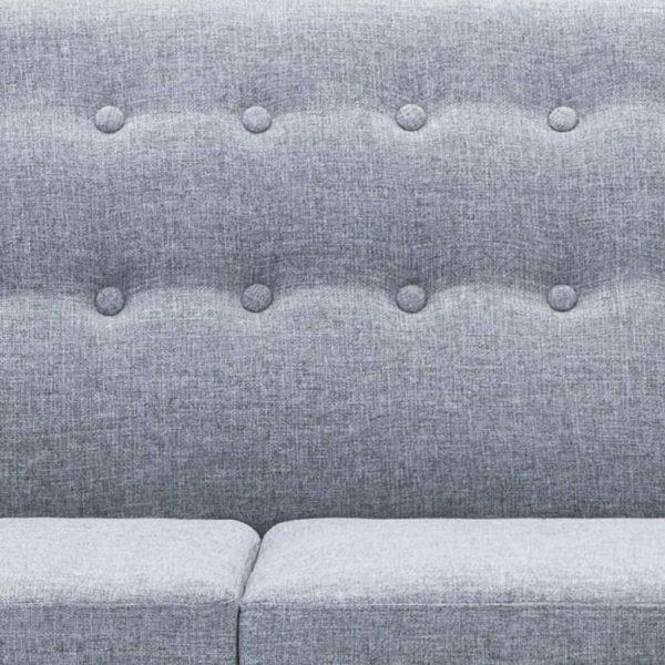 Sofa in L-Form Stoffbezug 171,5 x 138 x 81,5 cm Hellgrau