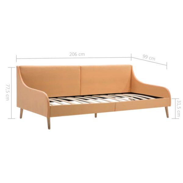 Tagesbettgestell Stoff Orange