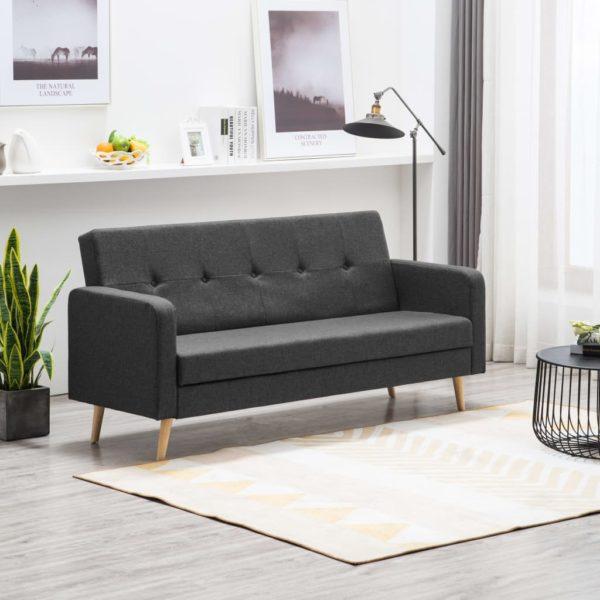Sofa Stoff Dunkelgrau