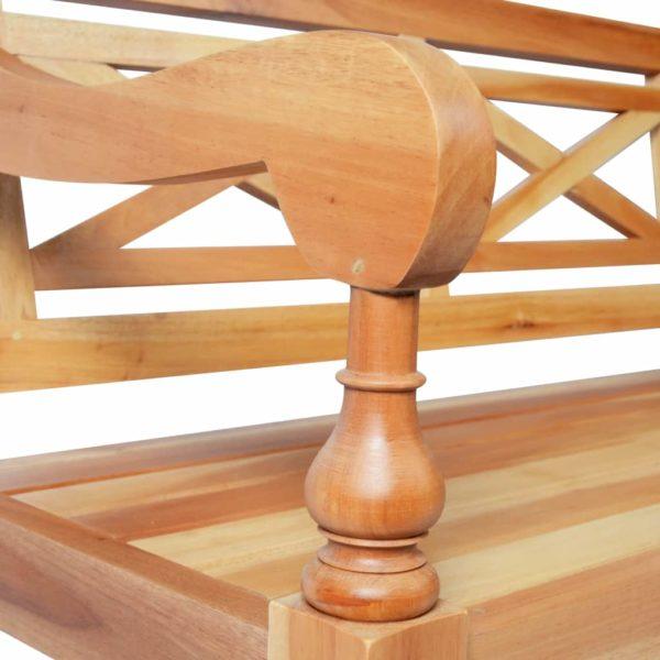 Batavia-Sitzbank 136 cm Mahagoni Massivholz Hellbraun