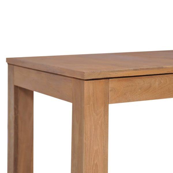 Esstisch Massivholz Teak mit natürlichem Finish 140×70×76 cm
