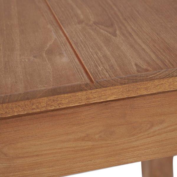 Esstisch Massivholz Teak mit natürlichem Finish 82×80×76 cm