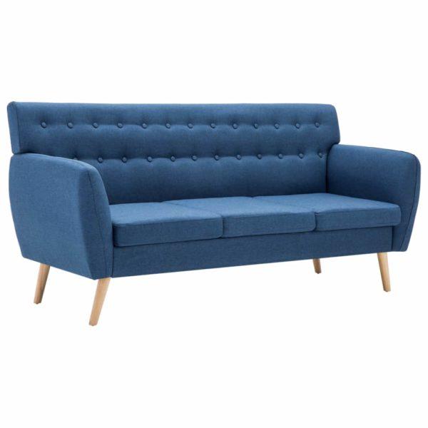3-Sitzer-Sofa Stoffbezug 172x70x82 cm Blau