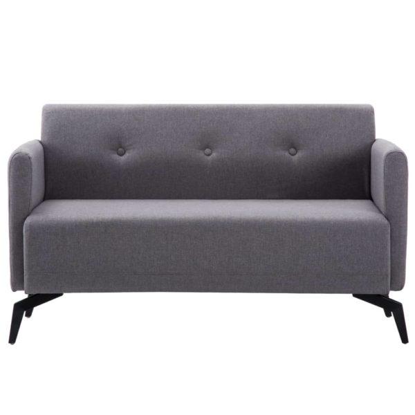 2-Sitzer-Sofa Stoffbezug 115 x 60 x 67 cm Hellgrau