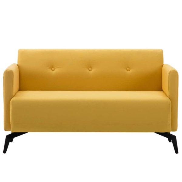 2-Sitzer-Sofa Stoffbezug 115 x 60 x 67 cm Gelb