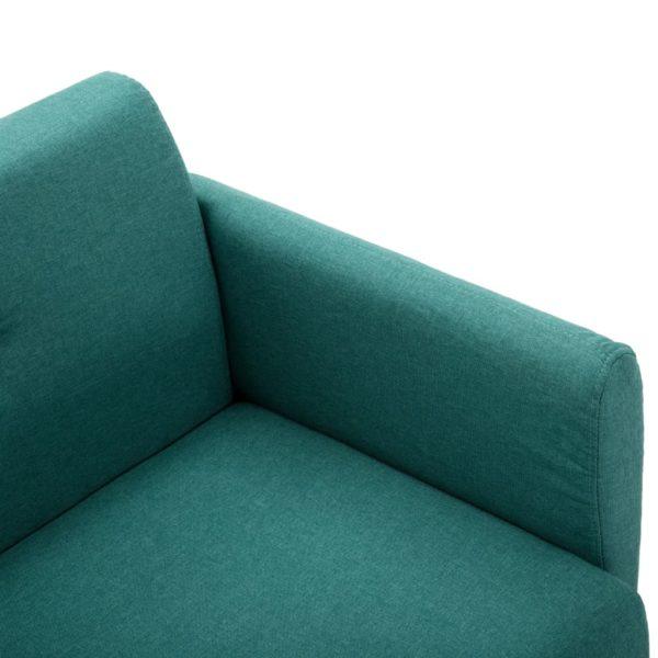 2-Sitzer-Sofa Stoffbezug 115 x 60 x 67 cm Grün