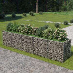 Gabionen-Hochbeet Verzinkter Stahl 450×90×100 cm