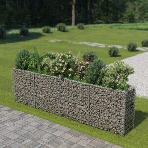 Gabionen-Hochbeet Verzinkter Stahl 360×50×100 cm