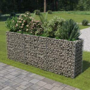Gabionen-Hochbeet Verzinkter Stahl 270×50×100 cm