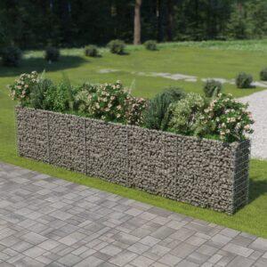 Gabionen-Hochbeet Verzinkter Stahl 450×50×100 cm