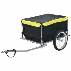 Fahrrad-Lastenanhänger Schwarz und Gelb 65 kg