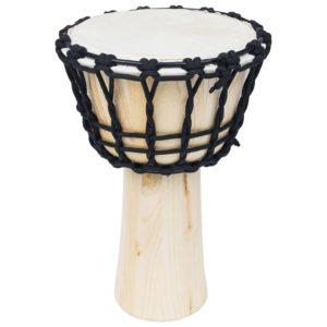 Djembe-Trommel mit Spannleinen 25 cm Ziegenleder