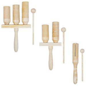 3-teiliges Agogo Glocken-Set Holz