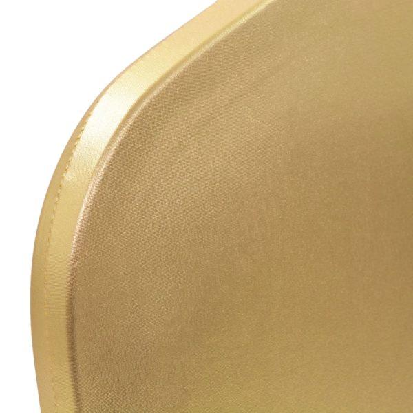 6 Stk. Stretch-Stuhlhussen Golden