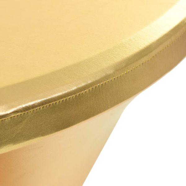 2 Stück Stretch-Tischdecken Golden 60 cm