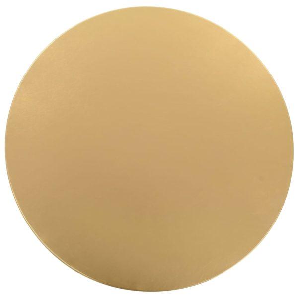 2 Stück Stretch-Tischdecken Golden 70 cm