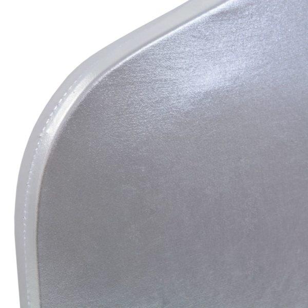 6 Stk. Stretch-Stuhlhussen Silbern