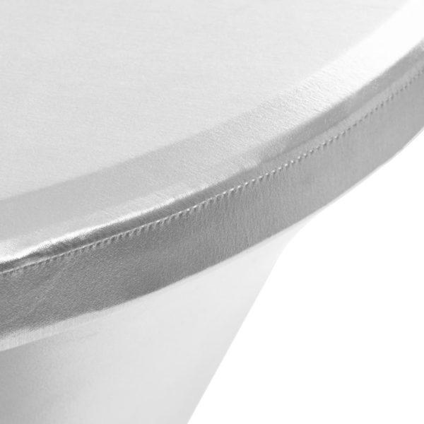 2 Stück Stretch-Tischdecken Silbern 80 cm