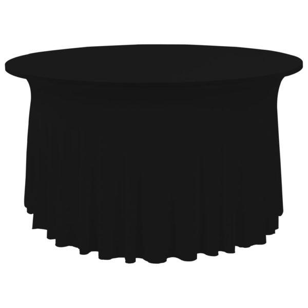 2 Stück Stretch-Tischdecken mit Rand Schwarz 180 x 74 cm