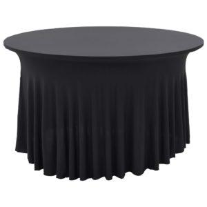 2 Stück Stretch-Tischdecken mit Rand Anthrazit 120 x 74 cm