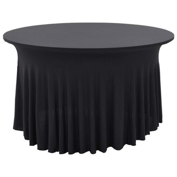 2 Stück Stretch-Tischdecken mit Rand Anthrazit 150 x 74 cm