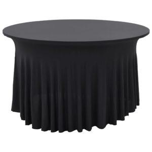 2 Stück Stretch-Tischdecken mit Rand Anthrazit 180 x 74 cm