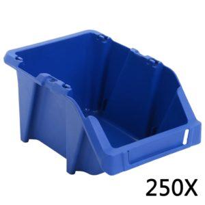 Stapelbare Lagerboxen 250 Stk. 103 x 165 x 76 mm Blau