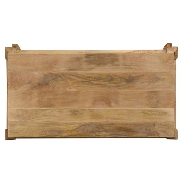 Esstisch 118×60×76 cm Massivholz Mango