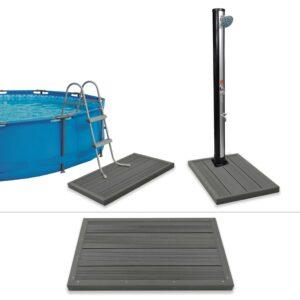 Bodenelement für Solardusche Poolleiter WPC