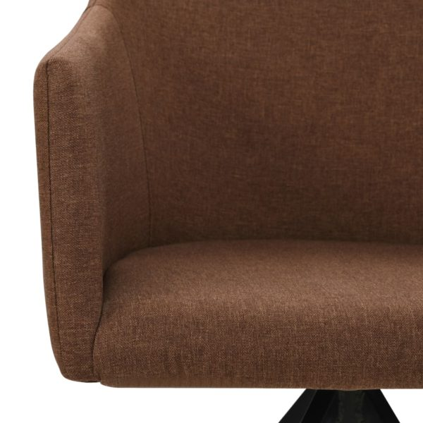Drehbare Esszimmerstühle 2 Stk. Braun Stoff