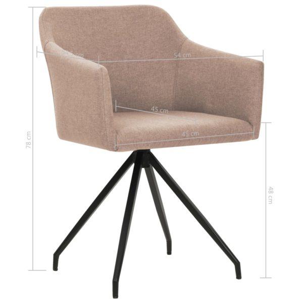 Drehbare Esszimmerstühle 2 Stk. Taupe Stoff