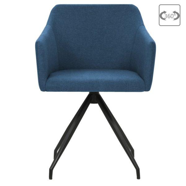 Drehbare Esszimmerstühle 2 Stk. Blau Stoff