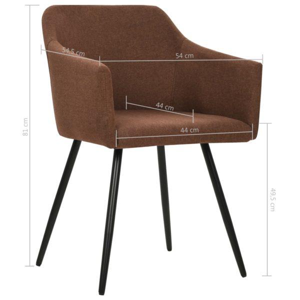 Esszimmerstühle 2 Stk. Braun Stoff