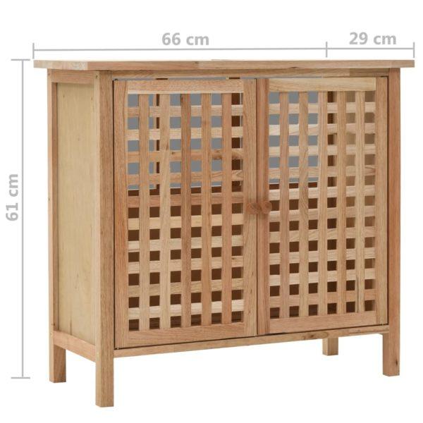 Waschbeckenunterschrank Walnuss Massivholz 66x29x61 cm