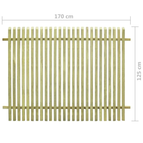 Gartenzaun Imprägniertes Kiefernholz 170×125 cm