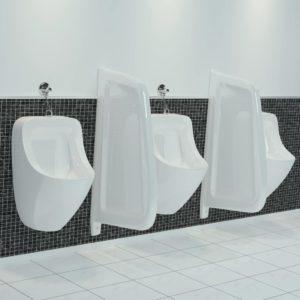 Urinal Trennwand Wandmontage Keramik Weiß